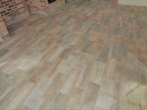 Wood Plank Tile Floor
