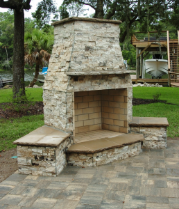 Residential Outdoor Fireplace Gallery
